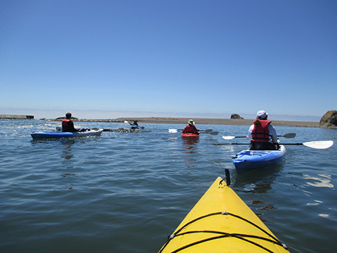 Kayaking at the Russian River Mouth