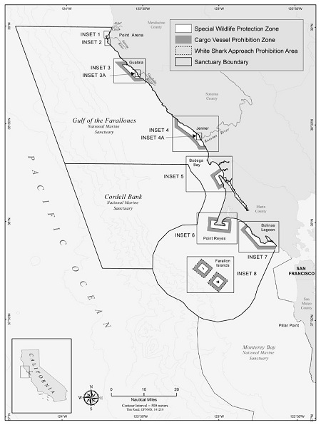 Zone Map of Greater Farallones Sanctuary