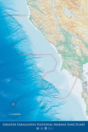 Boundary Map of Greater Farallones Sanctuary