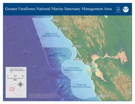 map of sManagement Area of Greater Farallones National Marine Sanctuary